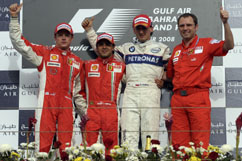 Kimi as second on the podium