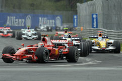 the start: Kimi 3rd and Felipe 6th