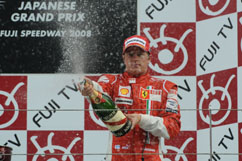 Kimi as 3rd on the podium