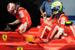 Qualifying: Felipe and Kimi on 1st +2nd place